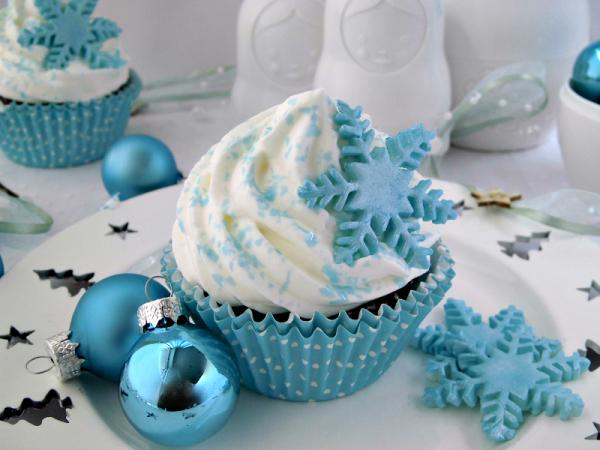 cupcake con cristalli di ghiaccio 0