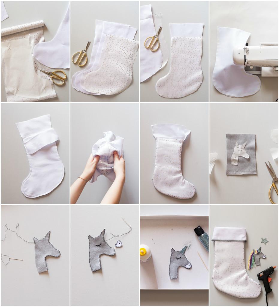 Super Regali di Natale fai da te: calza della Befana con l'unicorno WN11