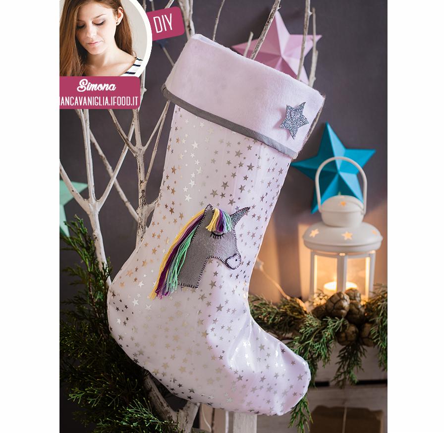 Regali Di Natale In Pannolenci.Regali Di Natale Fai Da Te Calza Della Befana Con L Unicorno