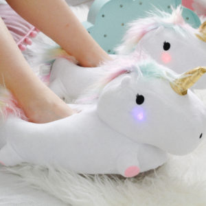 Pantofole luminose Unicorno