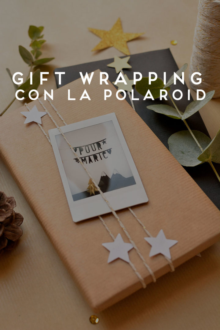 polaroid gift wrapping