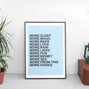 More - Poster Personalizzabile
