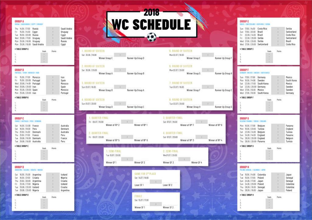 calendario mondiali 2018