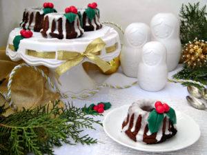 Mini bundt cake al cioccolato