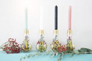 Corona dell'avvento con le lampadine