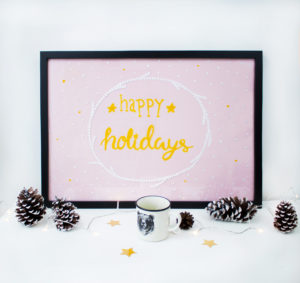 Decorazioni natalizie con lettering