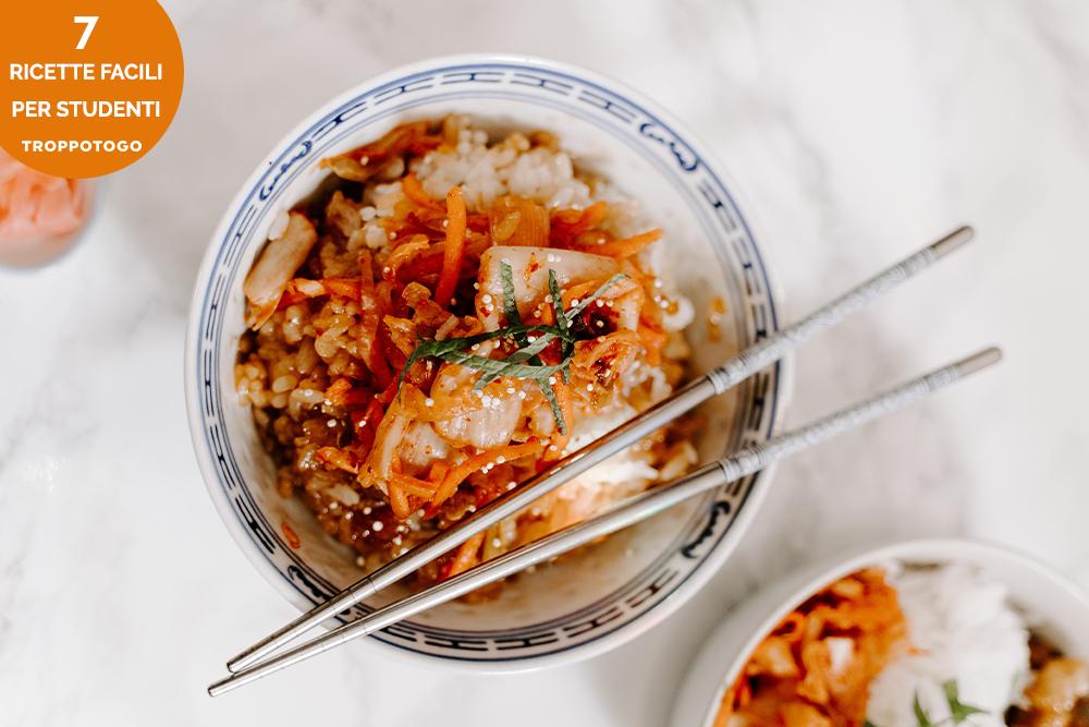 ricette facili riso con verdure