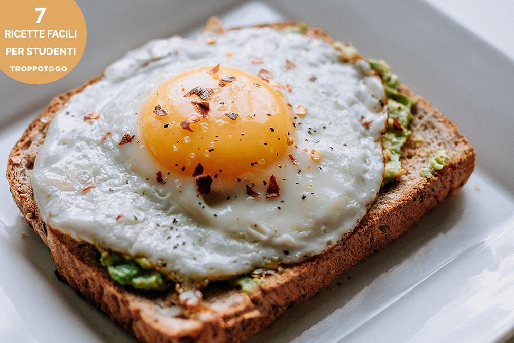 ricette facili toast avocado