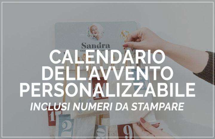 calendario dell'avvento personalizzabile