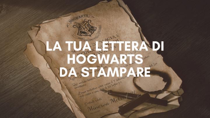 lettera di hogwarts
