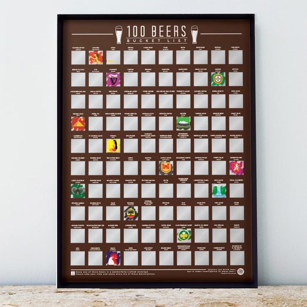 Poster 100 Birre da Bere Prima di Morire
