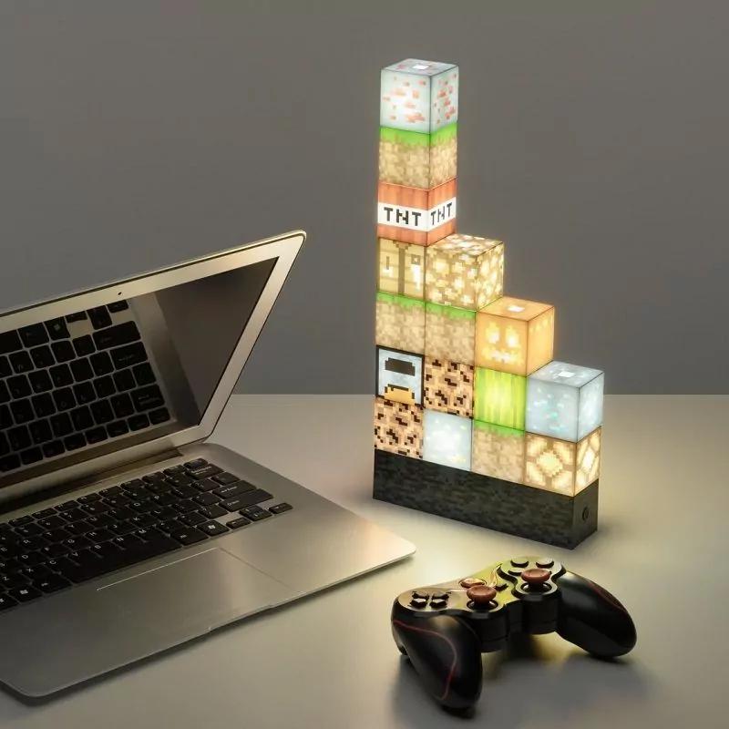 Lampada Minecraft con 16 Blocchi