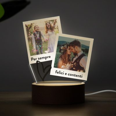 Lampada LED con Design a Polaroid