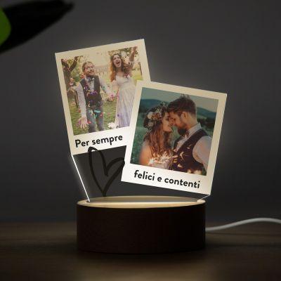 regali di natale lampada LED personalizzata con design a polaroid