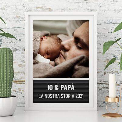 Poster Lavagnetta con Lettere con Foto e Testo