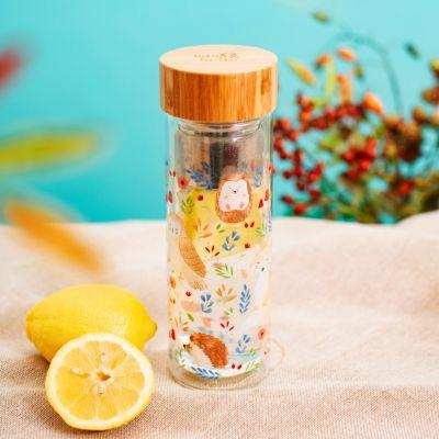 Bottiglia Abitanti della Foresta con Filtro per il Tè