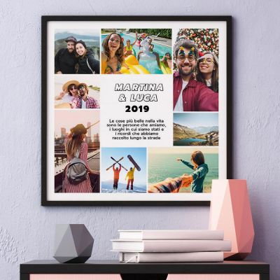 Poster con 8 Foto e Testo
