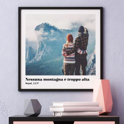 Poster con Foto e Testo