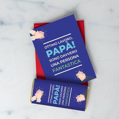 Biglietto e Cioccolato per Papà Ottimo Lavoro