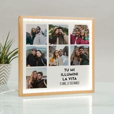 Light Box con 7 Foto e Testo