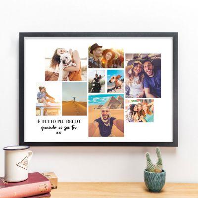 Poster con Collage di Foto e Testo