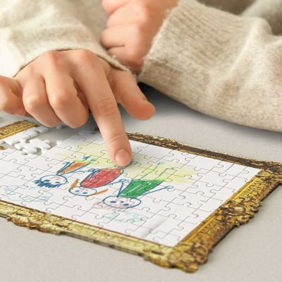 Puzzle con Disegno Fai Da Te