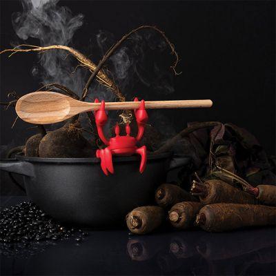 Poggiacucchiaio Granchio Rosso