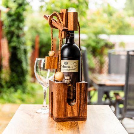 Rompicapo in Legno per Bottiglie di Vino