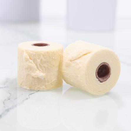 2 Mini Rotoli di Carta Igienica di Cioccolato