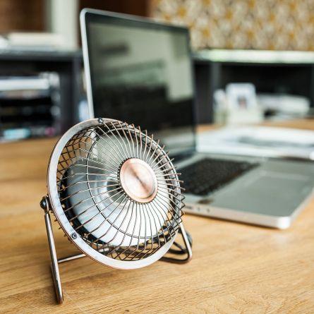 Ventilatore USB da scrivania in bronzo