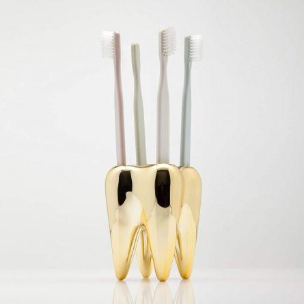 Portaspazzolini Dente Dorato