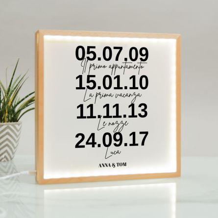 Light Box con Date Importanti