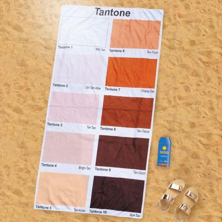 Asciugamano con Tabella di Colori dell'Abbronzatura