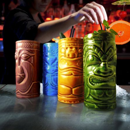 Set 4 Bicchieri da Cocktail Tiki