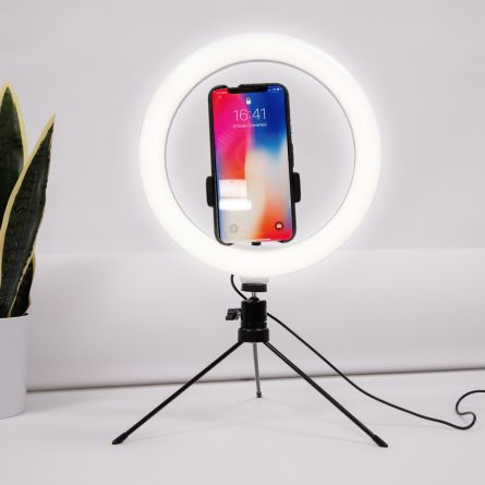Treppiede per Selfie con Anello LED