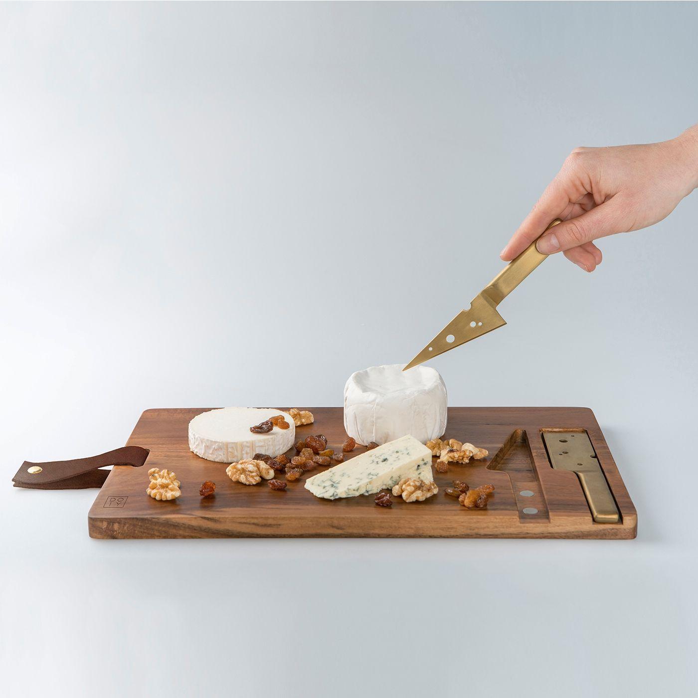 Set 2 posate per formaggio in scatola legno bomboniere art IL410
