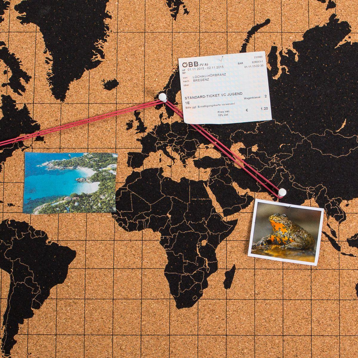 Cartina Mondo In Sughero.Mappa Del Mondo In Sughero Troppotogo