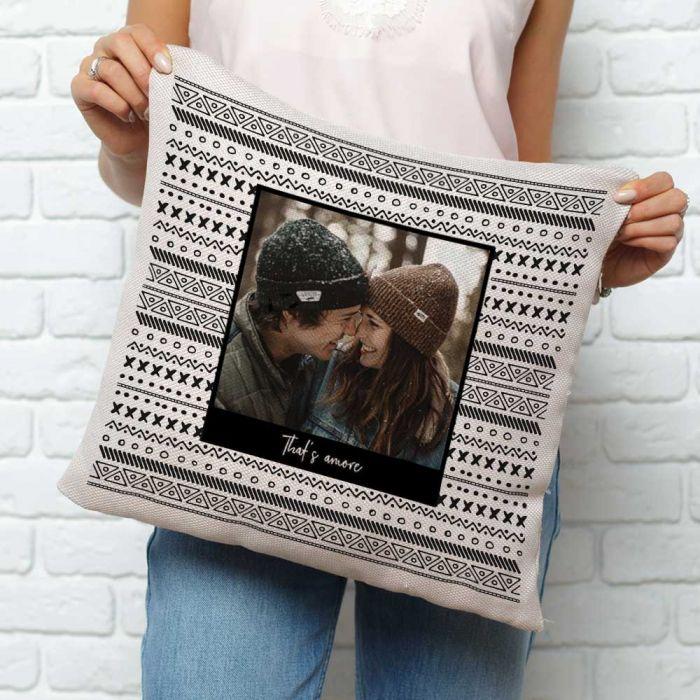 Federa per Cuscino Personalizzabile con Foto e Testo