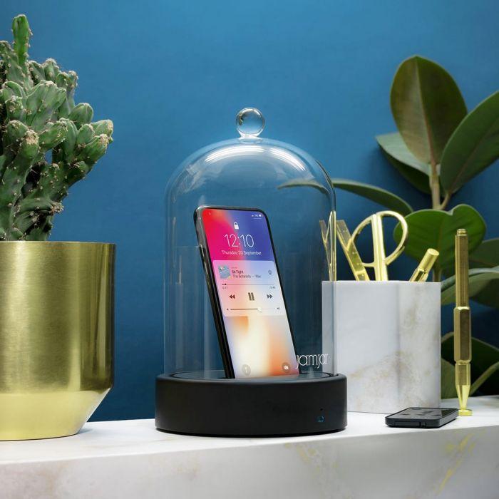 Campana di Vetro per Smartphone con Altoparlante Bluetooth