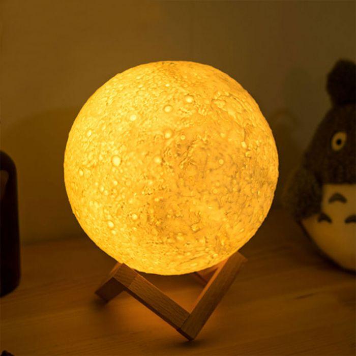 Luce Notturna Luna con Cambio di Colore
