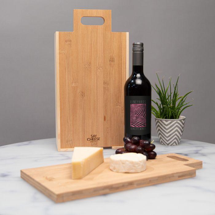 Confezione Regalo in Legno per Vino e Formaggi
