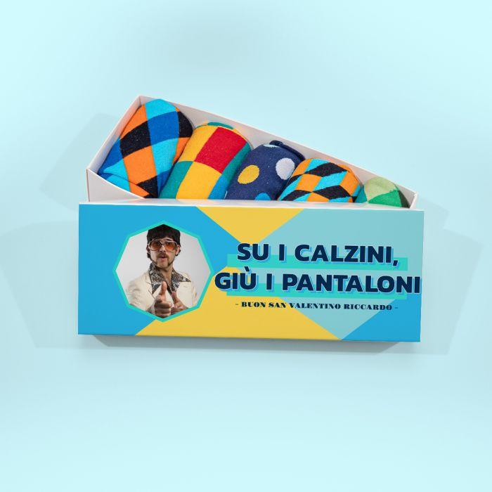 Scatola di Calzini con Foto e Testo