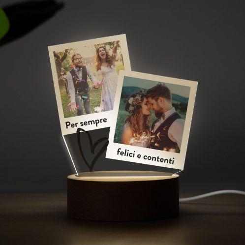 Lampada LED con Design a Polaroid