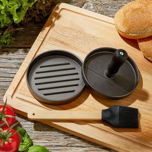 Pressa per Hamburger BBQ con Accessori