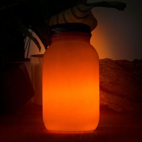 Lanterna Solare con Fiamma