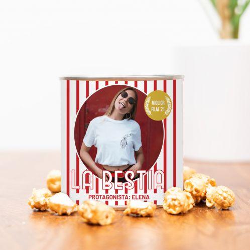 Popcorn Dorato con Foto e Testo