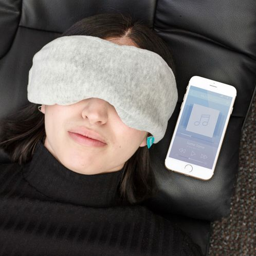 Maschera per Dormire con Auricolari Bluetooth