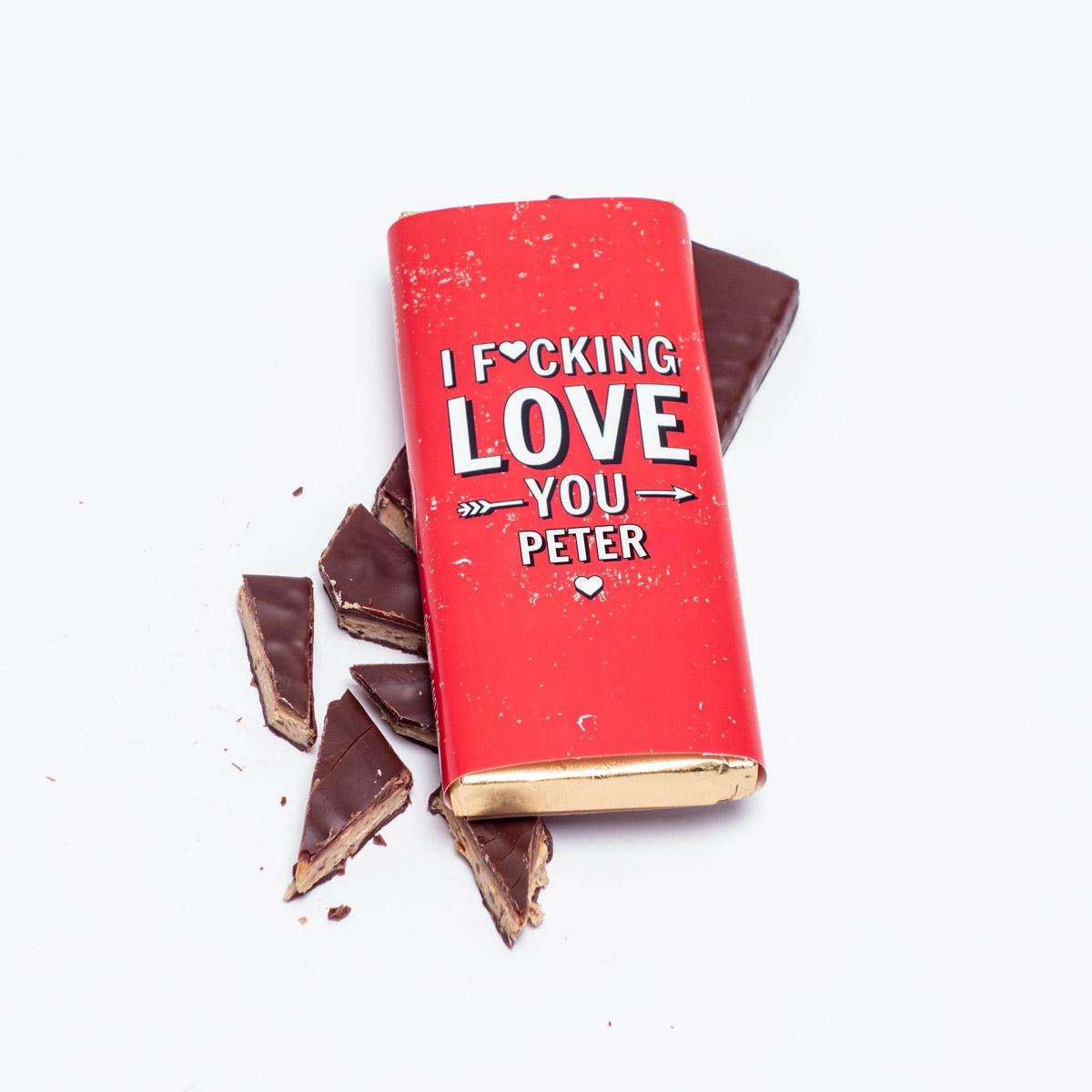 Cioccolato personalizzabile I f*cking love you