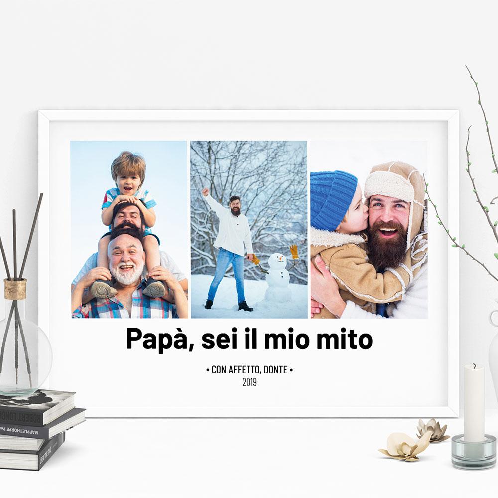 Poster con 3 Foto e Testo
