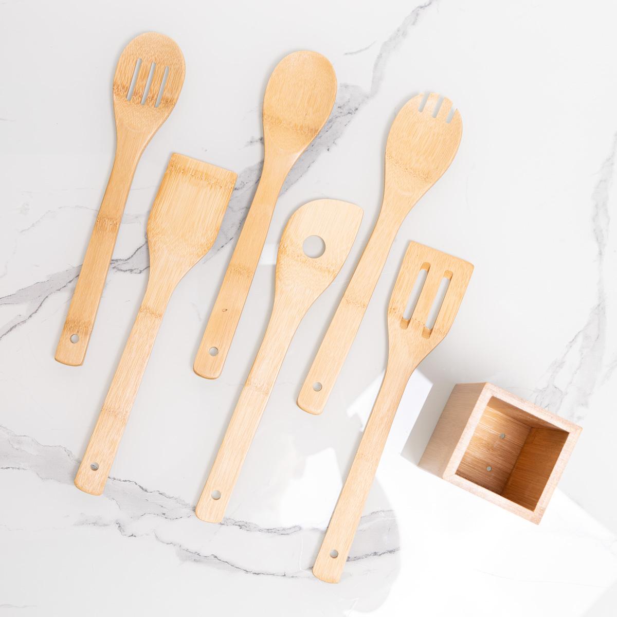 Set di Cucchiai con Contenitore e Testo per Maghi della Cucina